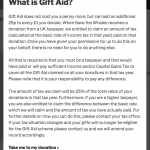"The ""Tell Me More"" link leads to an optional in depth Gift Aid explanation"