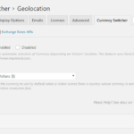 Geolocation settings in Dashboard.