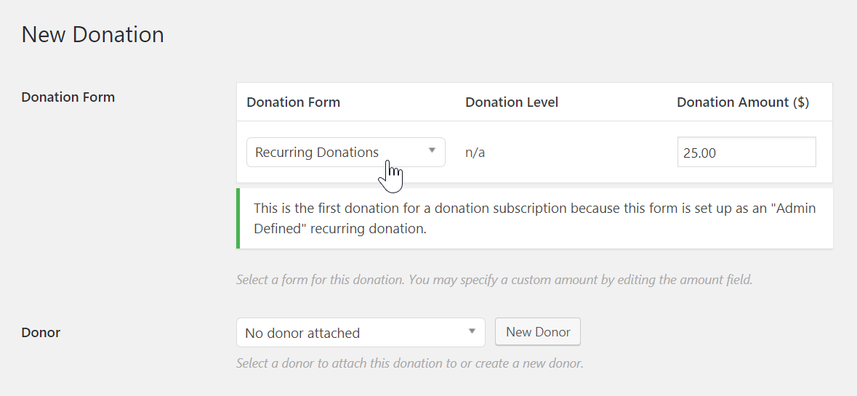 Manual Donations – GiveWP Donation Plugin for WordPress