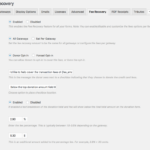 Fee Recovery Settings Page