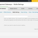 The GiveWP Mollie Payment Gateway Settings Screen